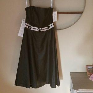 Shoshanna black strapless dress